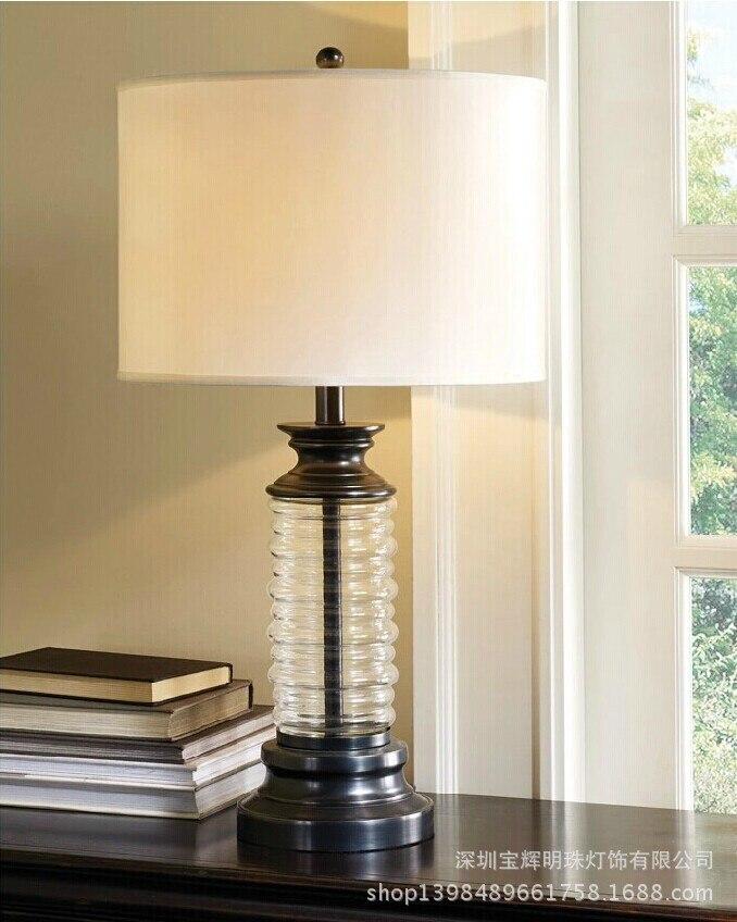 TUDA Free Shipping American Style Table Lamp Glass Table Lamp LED Desk Lamp For Living Room Bedroom room E27 110V-220V