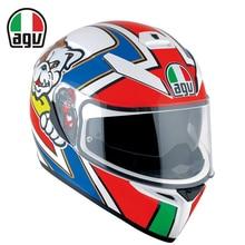 New Italy Original Brand AGV K3 SV VR 46 Motorcycle Racing Helmet Motocross Protection Full Face Rossi MOTO GP Helmets Men casco
