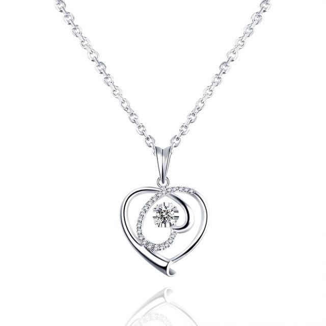 18k white gold heart pendant with diamond pendant gold ball diamond 18k white gold heart pendant with diamond pendant gold ball diamond necklace female genuine diamond aloadofball Choice Image