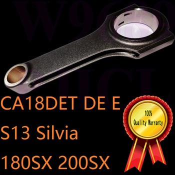 CA18DET DOHC 16V silnik inline 1 8 T Silvia S13 180SX 200sx 240SX safari rajd biegacz w górę samochód sportowy turbo kute korbowód tanie i dobre opinie 4 CYLINDRY Applied for S13 Silvia nissan 180SX 200SX 240SX 1989-1990 MSMOST 1 8T engine enhancement 4340 Mechanizm korbowy