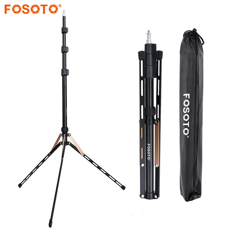 Fosoto FT-190 Gold Light Tripod Stand 1/4 Screw Bag Head Softbox For Photo Studio Photographic Lighting Flash Umbrella Reflector