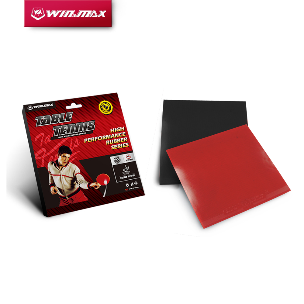 Winmax Duarable  Red Or Black 4mm Thick Table Tennis Racket  Rubber