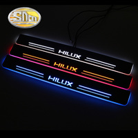 Top Quality Waterproof Ultrathin LED Welcome Scuff Plate Pedal Door Sill For Toyota Hilux Revo 2015