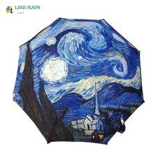 """Как дождь живопись зонтик 2017, Новая мода Моне """"Femme в l'ombrelle"""" картина маслом зонтик дождь Для женщин наружное paresol YHS09"""
