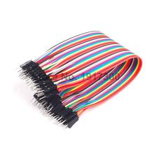 40pcs in Row Dupont Cable 21.5 cm 2.54mm 1pin 1p-1p Male to Male Jumper Wire for Arduino Free Shipping Dropshipping