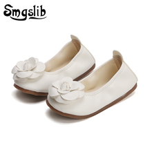 Girls Shoes Girls Pu Leather Flower Sneaker Kids Dance Shoes 2019 Spring Princess Party Dress Shoes Toddler Baby Girl Shoes цена 2017