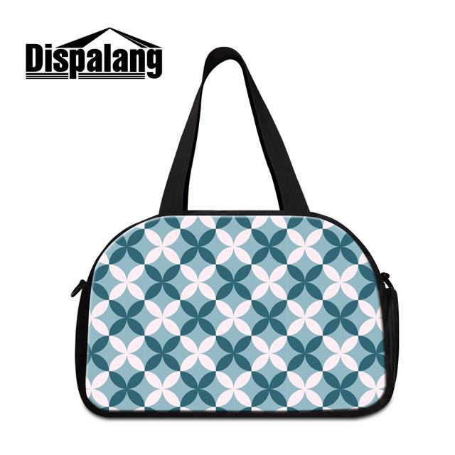 Dispalang mulheres moda sacos de bagagem de viagem bonito estampas geométricas mochilas dos homens mais novo grande saco de fim de semana para os alunos de varejo