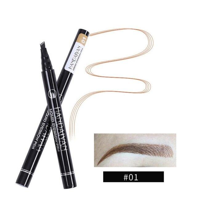 HANDAIYAN 1pc Eyebrow Pencil 4 Head Brush Waterproof Liquid Eyebrow Tattoo Pen Enhancer Tint 4 Color Makeup maquillaje TSLM2 1