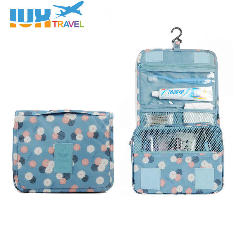 IUX Beautician Vanity Necessaire Trip Women Travel Toiletry Wash Bra  Underwear Make Up Makeup Case Cosmetic 3cf9fd5c01