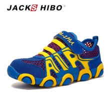 JACKSHIBO Child Summer Sneakers Kids Mesh Shoes Breathable Vamp Safe Footwear Light Weight Toddler Outdoor Running