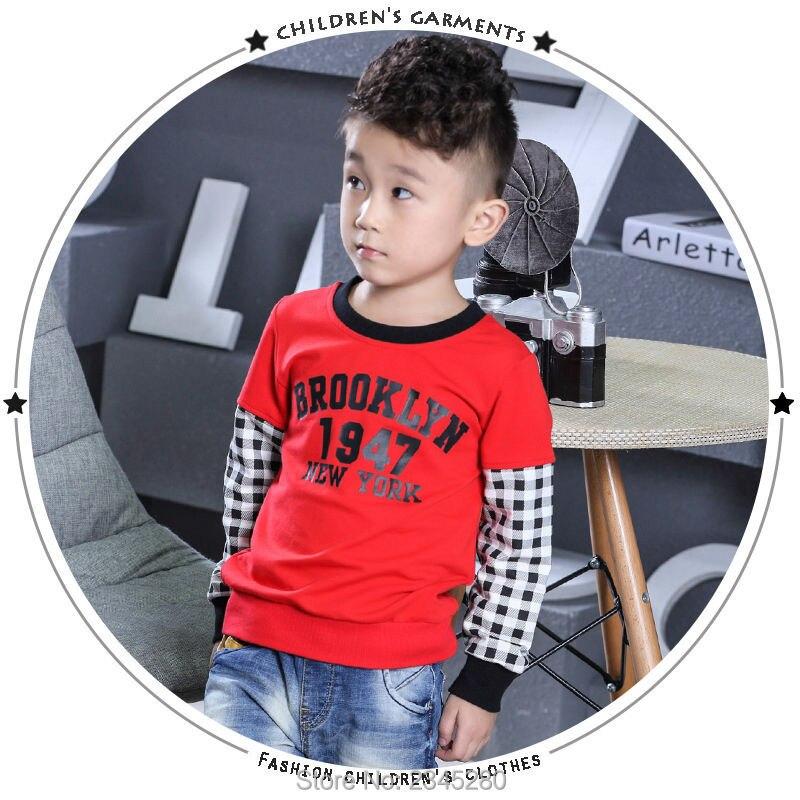 T-Shirt For Boy Sweater Ruffle Raglan Shirts Child Bobo Choses  The Boys Clothes Kids Tees Children Tops Teenage Boys Clothing 12