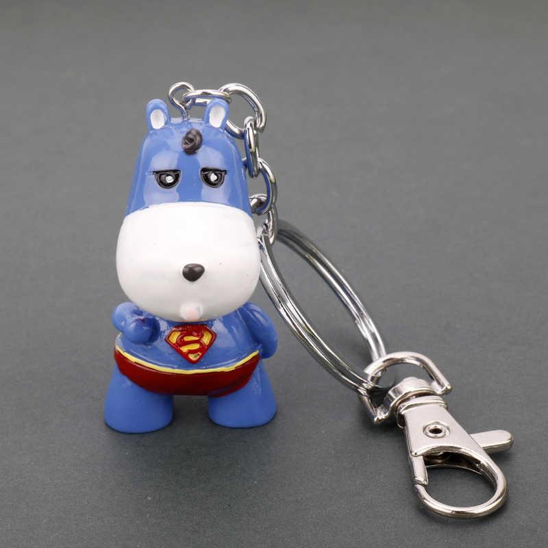Dongsheng Capitão América Batman Homem Aranha Superman Anel Chave Keychain Keychain Filme Dos Vingadores Super Herói Crianças Brinquedo de Presente de Natal
