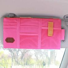 Multi-function Sun Visor Car Storage Holder Vehicle Pocket Organizer Shade Board