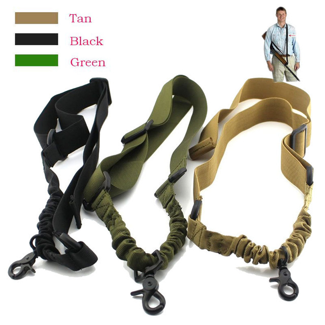 Heavy Duty Tactical One Point Sling Ajustable Bungee Rifle Sling Correa para la