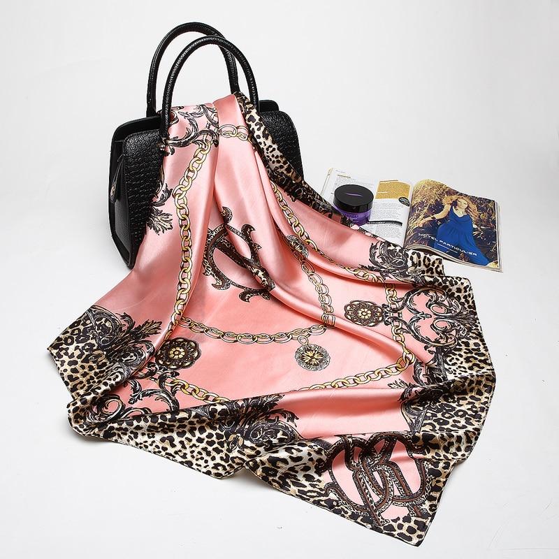 Women's Leopard Silk-Satin Head Square Ss