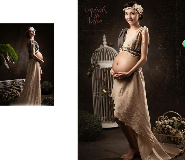 79a242ebb33b8 Elastik Analık Ince Elbise Hamile Fotoğraf Sahne Fantezi Gebelik Fotoğraf Çekimi  Stüdyo Giyim