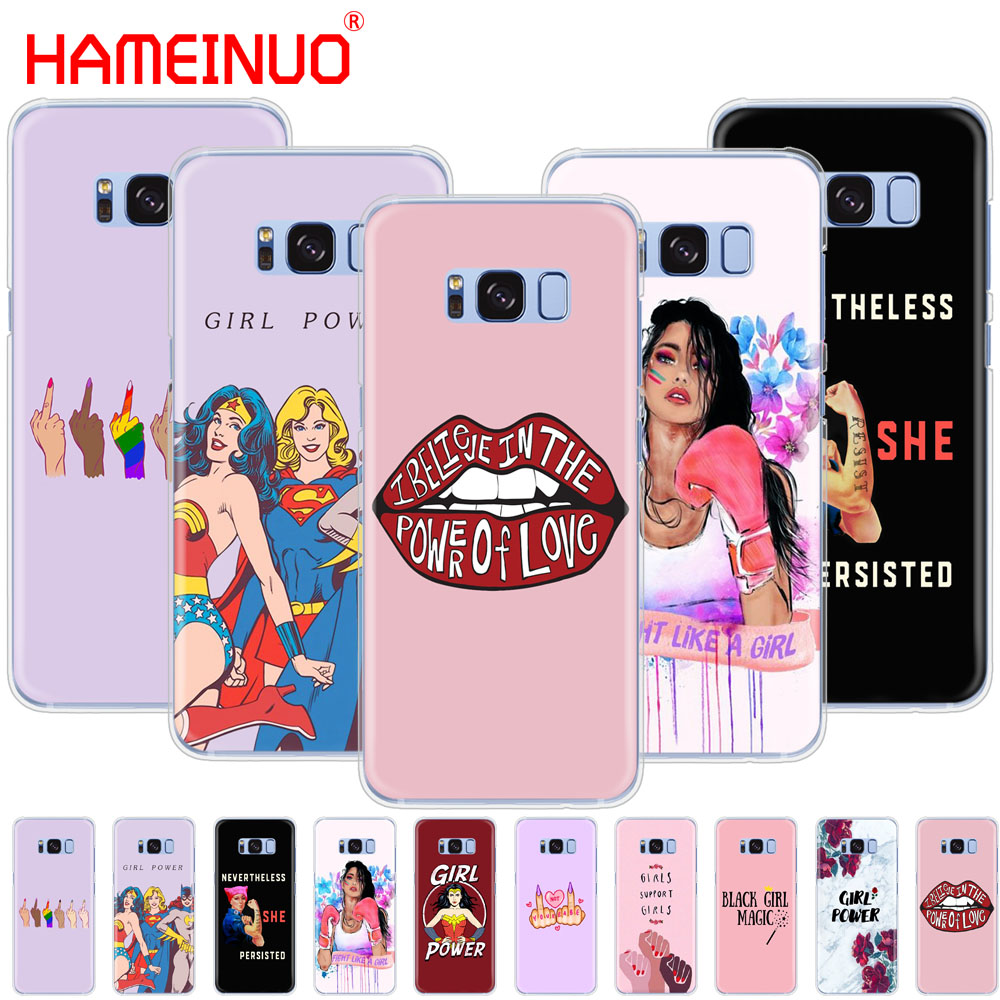online store 939cd 724e0 HAMEINUO Girl Power cell phone case cover for Samsung Galaxy S9 S7 edge  PLUS S8 S6 S5 S4 S3 MINI