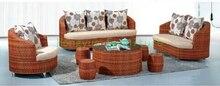 Rattan sofa set furniture for living room