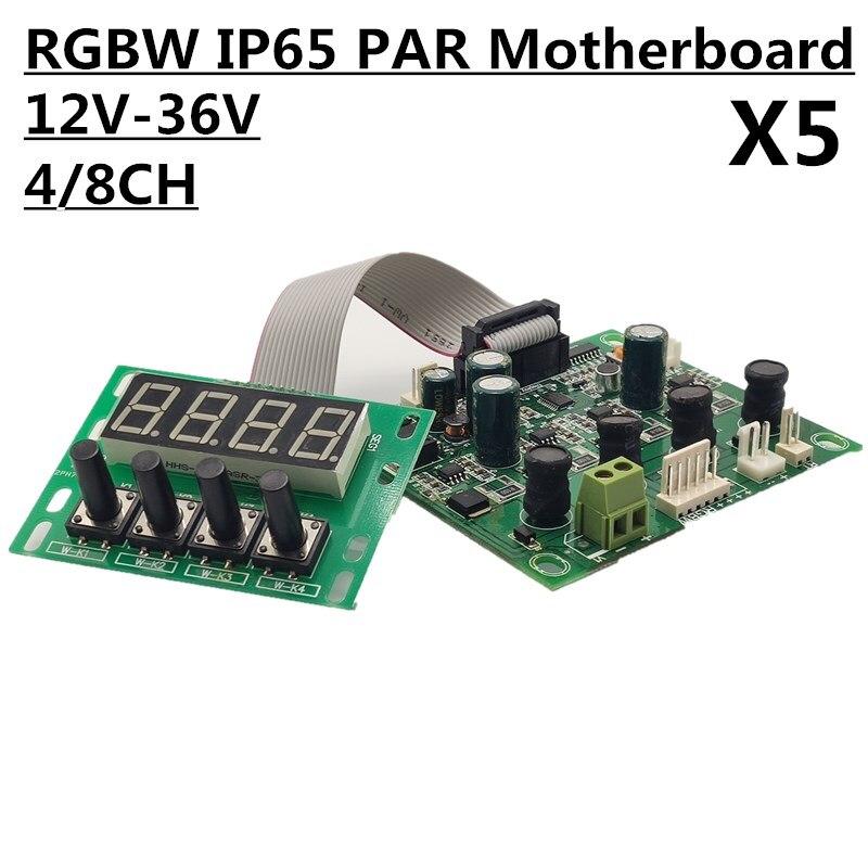 5PCS RGBW motherboard IP65 PAR board constant current DC12 36V 54x3w 18x12w 24x12w led par use
