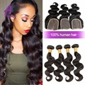2015 Real Promotion Pure Color Cheap Brazilian Virgin Hair With Closure 3-4 Bundles  With Lace closure 7a Unprocessed Body Wave