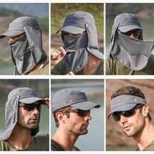 Открытый спортивный туристический козырек дышащая шляпа с защитой от ультрафиолета для лица и шеи рыболовная солнцезащитная Кепка с широкими полями с пряжкой