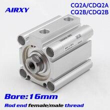 цена CQ2A/CQ2B bore 16mm Double Action single rod thin Compact Cylinder rod end female/male thread CDQ2B16-20DZ CDQ2B16-25DMZ