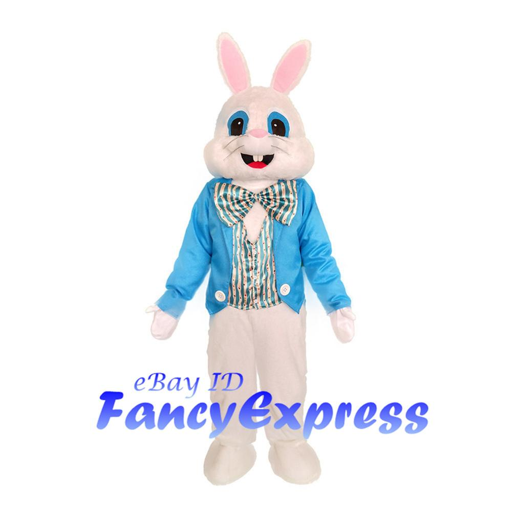 Hot Easter Bunny Mascot Costume Cartoon Rabbit Cosplay Adult Fancy Dress Outfit