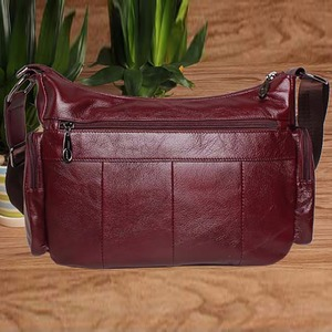 Image 5 - Women Vintage Shoulder Bag First Layer Cowhide Messenger Bags Shopping Casual Brand Famous Genuine Leather Single CrossBody Bags