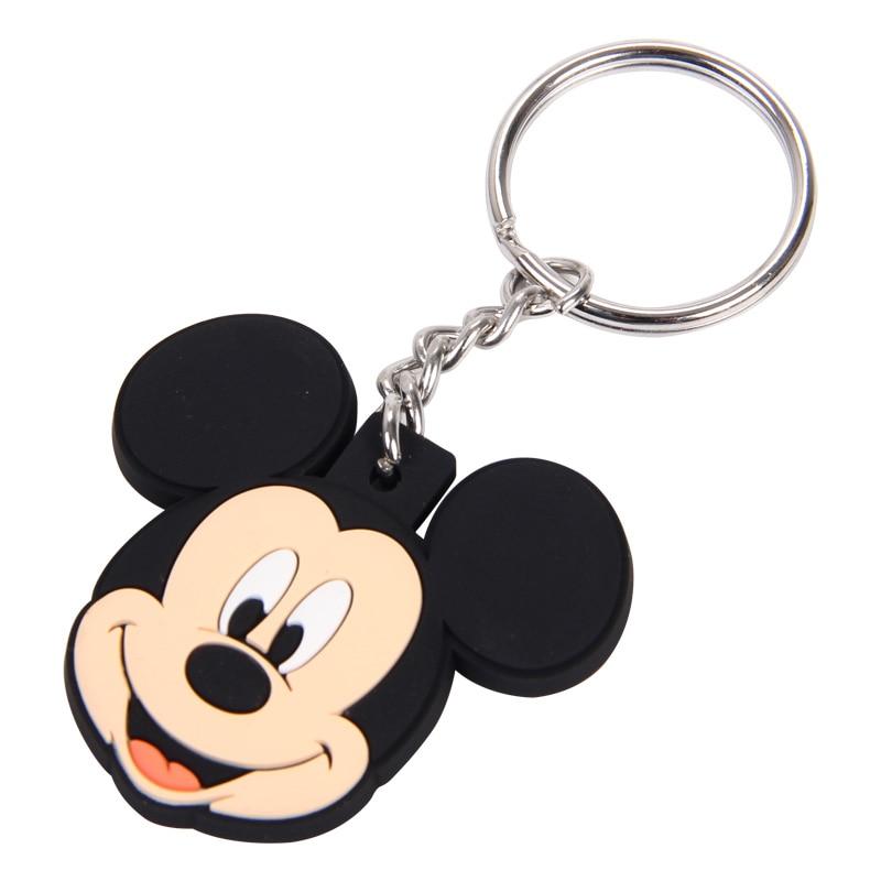 New pop Cartoon PVC Keychain Mickey Minnie Kids Keychain Key Holder Bag Pendant Charms Fans Gift Key wallet accessories (16)