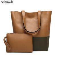 Ankareeda Brand New Casual Female Tote Composite Handbag Ladies Top Handle Bags Simple Large Capacity Fresh Women Shoulder Bag