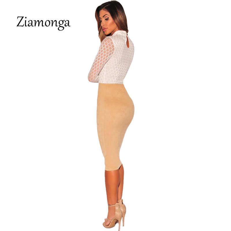 Ziamonga Перспектива с длинным рукавом черные пикантные Средства ухода з