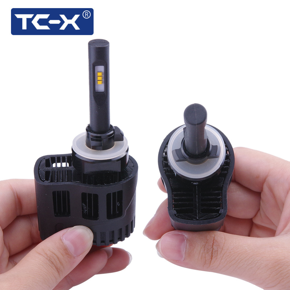 TC-X LED Light Bulbs Kit for Car Headlights Fog Light 880 H27 Car Styling 6000K 3000K Amber White Auto Lamp Replacing Foglights lyc headlights auto day running light kit truck light parts led lights car 6000k 7 inch led round 1800lm lamp car styling