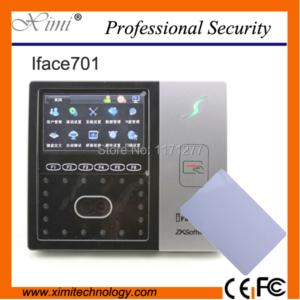 TCP/IP RS232&485 communication Infrared Camera IC card reader free shipping ZK Iface701 face employee attendance time reader