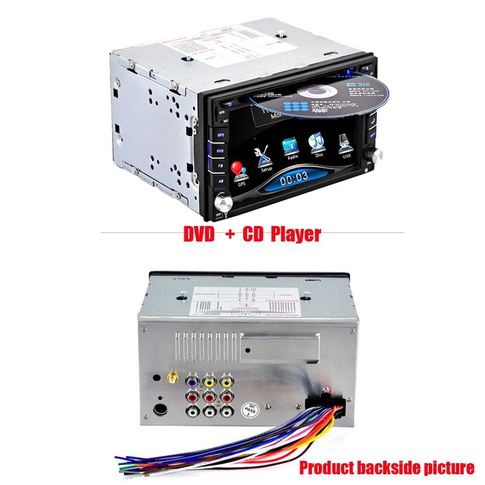 Podofo GPS universal car radio 2 din Car DVD player GPS navigation computer speakers free maps of TF card 2DIN CD