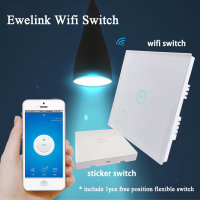Ewelink WiFi Wall Light Touch Switch 1 Gang 2 Way Timer Panel UK 86 Type 85