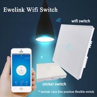 Ewelink WiFi Wall Light Touch Switch 1 Gang 2 Way Timer Panel UK 86 Type 85