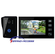 Wireless doorbell camera with high quality 7inch LCD touch screen,wireless video door phone Intercom System