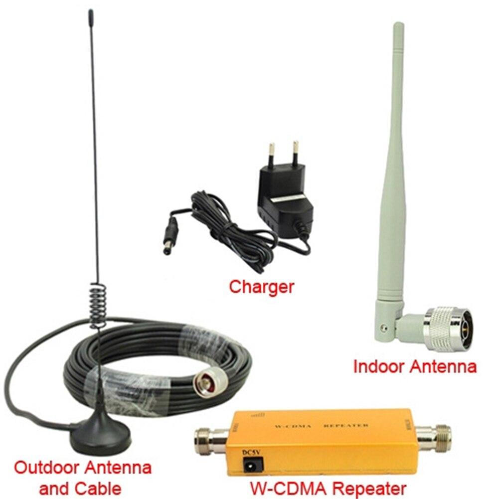 Amplificateur de W-CMDA multi-usage avec adaptateur de puissance d'antenne Umts amplificateur de Signal intérieur téléphone Portable 2100 MHZ 3G répéteur Portable