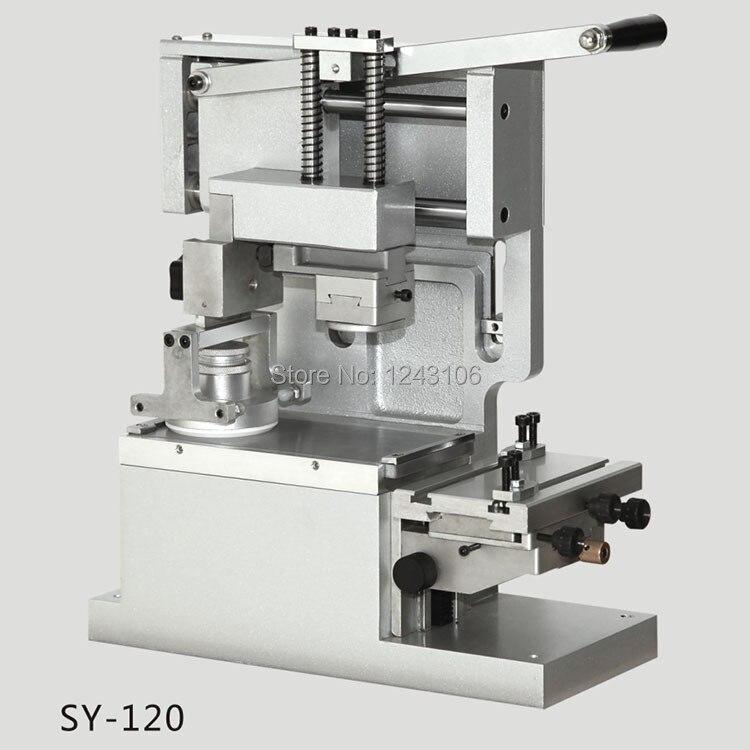 SY-120 Настольный ручной принтер, круглая печатная машина, чернильный принтер, передвижная печатная машина(с чернильной чашкой, белого цвета