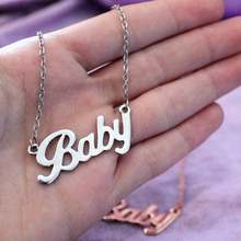Baby Necklace Stainless Steel Girl Gift Jewelry Send Girlfriend Valentine FC0088