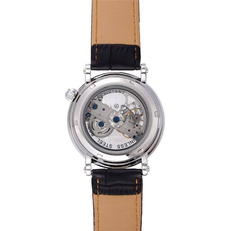 탑 브랜드 고급 기계식 남성 시계 SHENHUA Steampunk 투명 - 남성 시계 - 사진 4