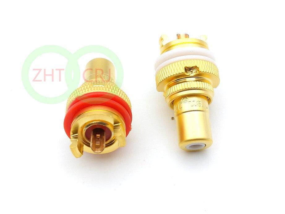 100 pces conector rca banhado ouro 01