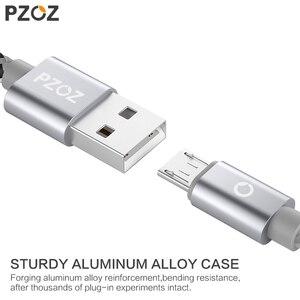 Image 3 - PZOZ Cavo Micro USB di Ricarica Veloce adattatore Del Caricatore Del Telefono Cabel Dati Per Samsung Xiaomi Huawei MEIZU Android SONY Carica Microusb