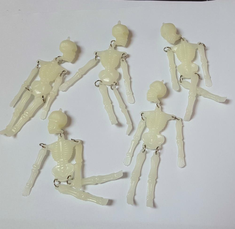 Aliexpress.com : Buy 100X (3.5 inch) 9cm Glow In The Dark Skeleton ...