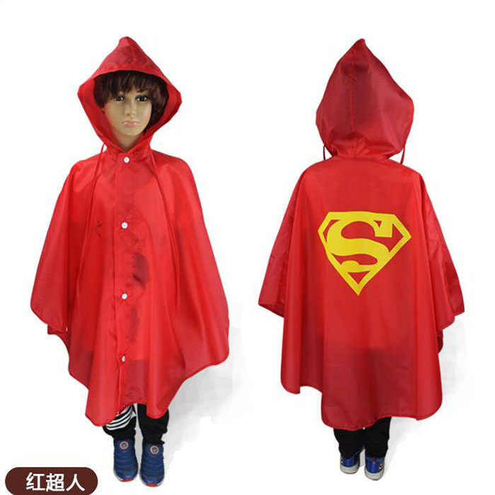 Kids Rain Coat Baby Halloween Costume Cloak Poncho Rainsuit Superhero Cosplay