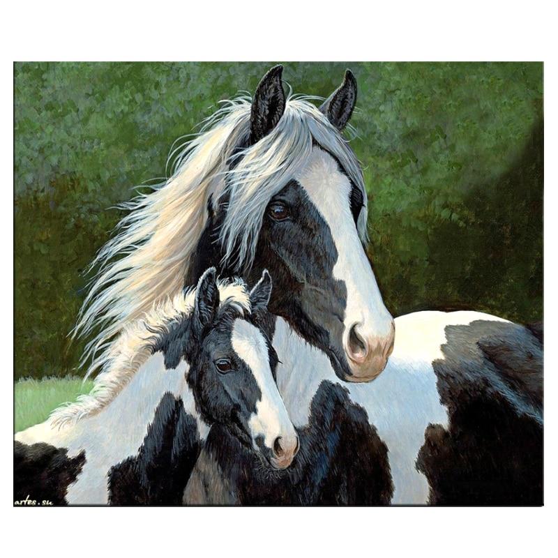 Rhinestone Diamond Embroidery Full Diy Diamond Painting Horse Handicraft Inlay Mosaic Cross Stitch Crafts Home Paintings