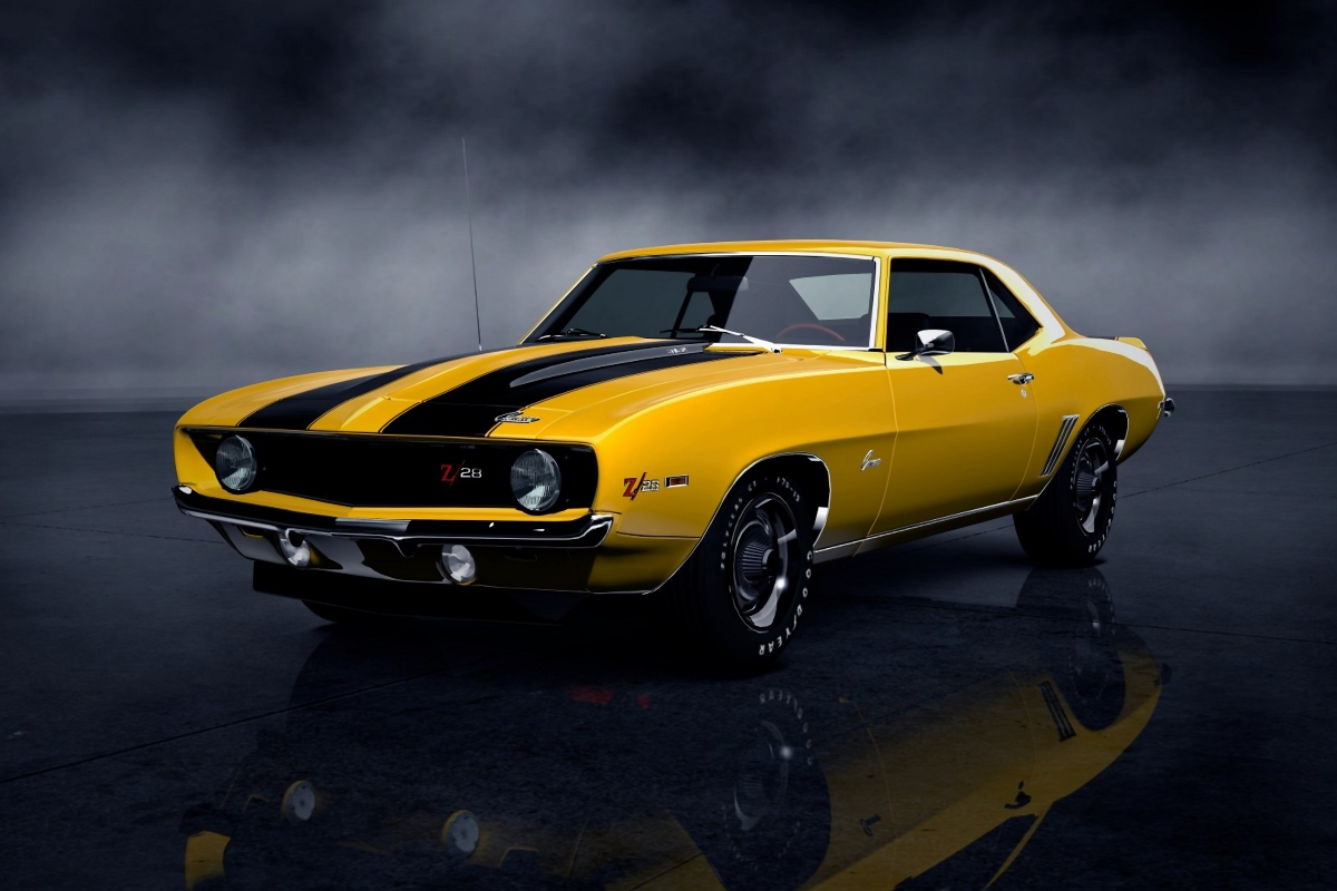 1969 Camaro retro cool muscle car KC222 Living room home wall modern ...