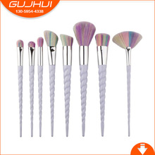 8 Brush Thread Spiral Horns Colorful Makeup Brush Unicorn Trade GUJHUI