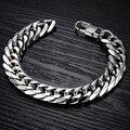 30PCS Men jewelry stainless steel bracelet luxury length 22cm/width 14mm/thick 3mm bracelet chain fashion charm bracelets gifts