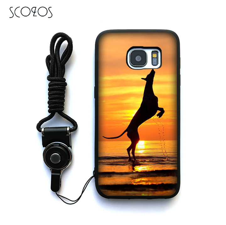 SCOZOS galgo greyhound dog 6 Case Cover For Samsung Galaxy S6 S7 S7 edge S8 S8 Plus J3 J5 J7 A3 A5 A7 2016 Note 8 &ww131